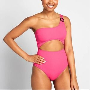 NEW Modcloth   Cut Out One Piece Swimsuit